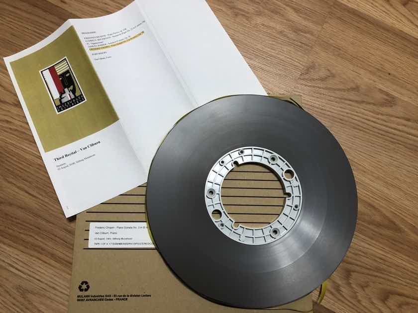 Reel Tape 2 TRACK 15IPS......Chopin....Van Cliburn...Live