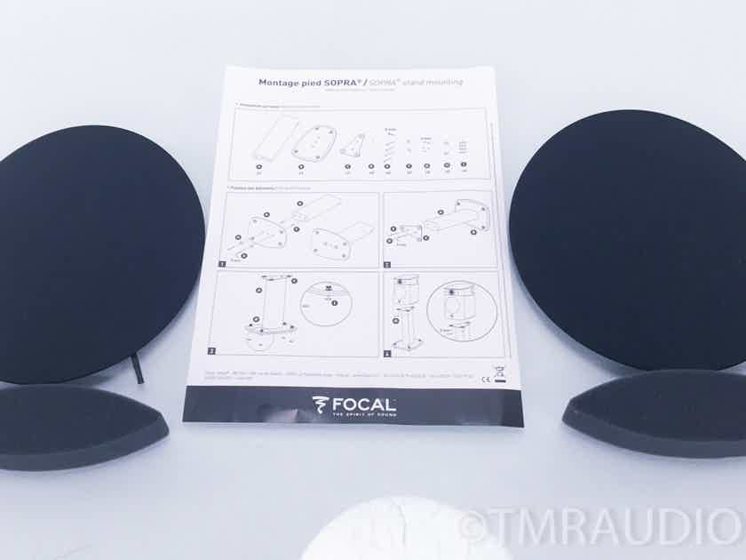 Focal Sopra No1 Floorstanding  Speakers w/ Stands; Pair; Audi Blue; No.1 (2830)