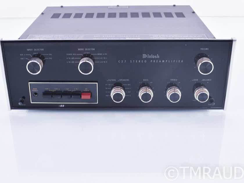 McIntosh C27 Vintage Stereo Preamplifier; MM Phono; Factory Box (18569)