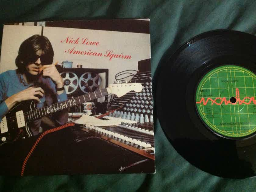 Nick Lowe - American Squirm Radar UK 45 With Sleeve