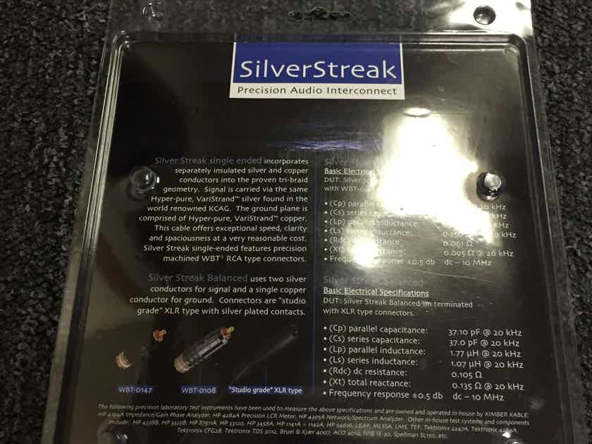 Kimber Kable SilverStreak ic 2 meter WBT 0147 Brand new!!!! 2 pairs available