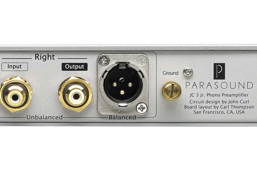 Parasound JC 3 Jr. Phono Preamplifier by John Curl SILVER