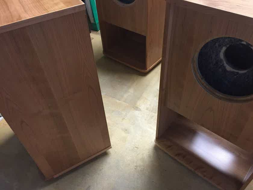 """New: Pair - GRF Folded Horn Custom Cabinets for Tannoy 15"""" Gold, Silver, Red, HPD"""