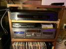 DIY rack w/ phono pre, cassette, & Oppo player