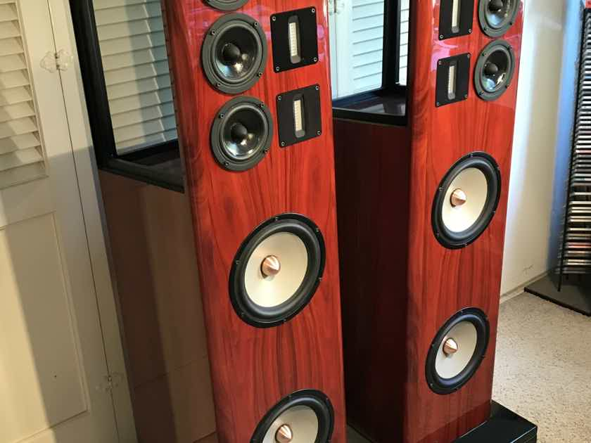 NOLA BABY GRAND REFERENCE II LOUDSPEAKERS, ORIGINAL WOOD CRATES, NEAR MINT, FREE SHIPPING