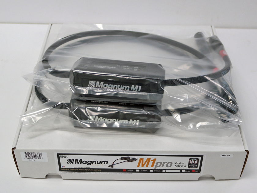 MIT Magnum M1 Proline XLR 1m pair. New-Old-Stock Lifetime wrnty