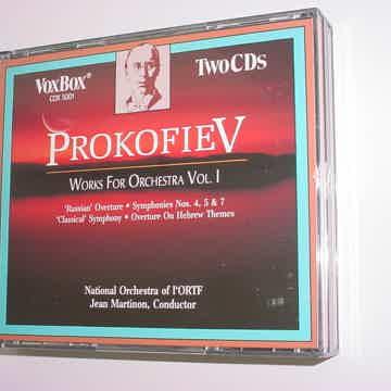 VOXBOX vox box 2 CD SET classical PROKOFIEV Works for Orchestra vol 1 Jean Martinon