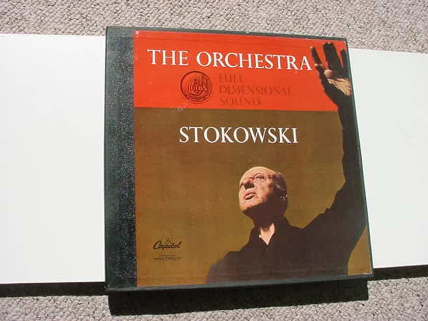 The Orchestra Stokowski -  1 lp record box set with booklet full dimensional sound Capitol SAL-8385