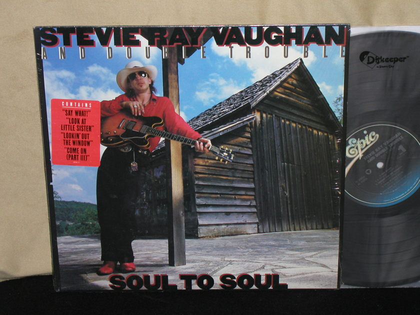 "Stevie Ray Vaughan/Double Trouble - ""SOUL TO SOUL"" Genuine Epic FE 40036. In Shrink w/sticker."