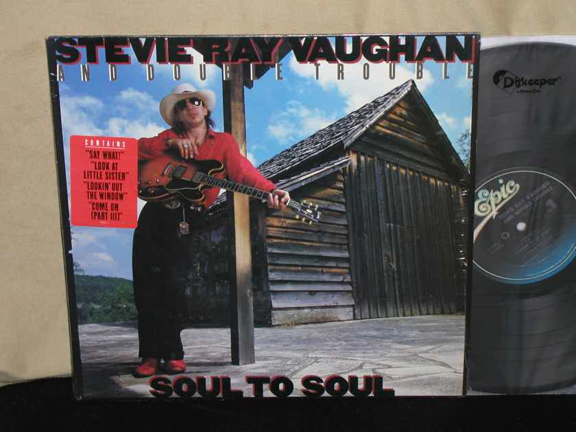 "Stevie Ray Vaughan/Double Trouble - ""SOUL TO SOUL"" Epic FE 40036. In Shrink w/sticker."