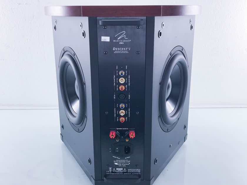 """Martin Logan Descent i 10"""" Powered Subwoofer Cherry; AS-IS (No Power) (14289)"""