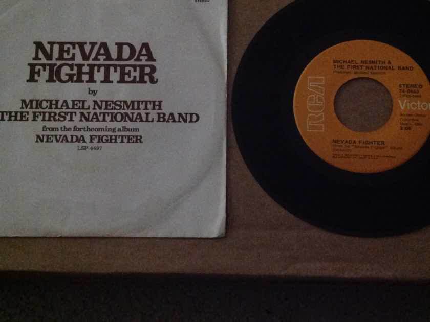 Michael Nesmith & The First National Band - Nevada Figher/Here I Am RCA Records 45 Single With Picture Sleeve