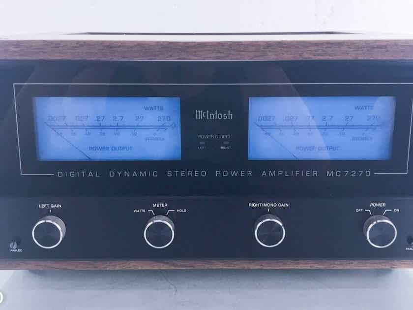 McIntosh MC7270 Stereo Power Amplifier w/ Walnut Cabinet MC-7270 (14276)