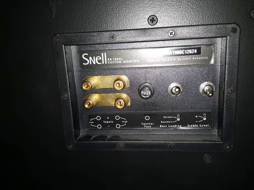 Snell XA-1900c 2 main fronts and center channel.