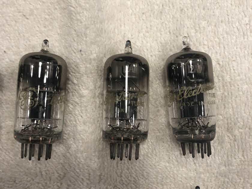 12at7 tubes Ge & gold lion& Raytheon  And 12ay7 tubes