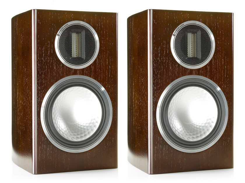 Monitor Audio GOLD 100 Bookshelf Speakers (4G - Discontinued): NEW-in-Box; 5 Yr. Warranty*; 35% Off