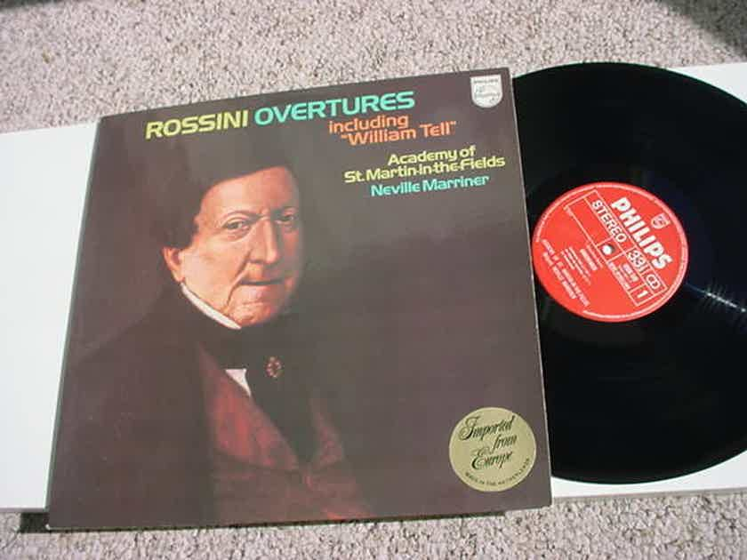 PHILIPS Classical Rossini Overtures lp record Neville Marriner 1977 Holland