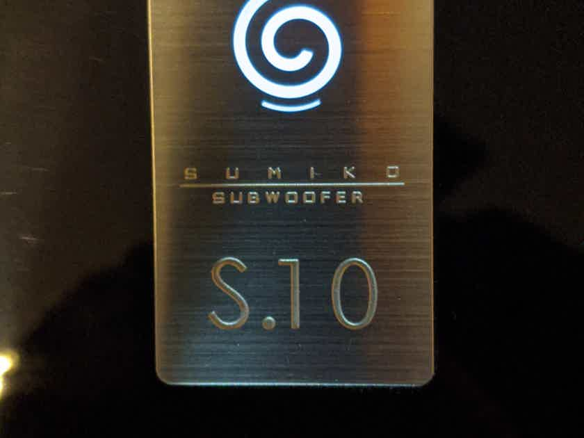 """Sumiko S.10 Subwoofer 9/10 condition 12"""" drivers 1 owner Piano Black"""