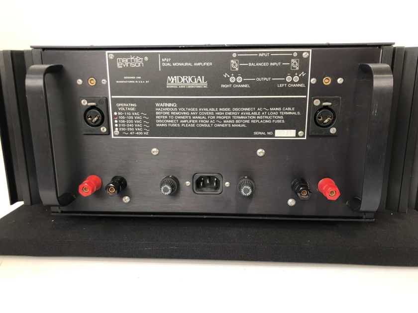 Mark Levinson No.27 Class AB Solid State Amplifier - Freshly Serviced