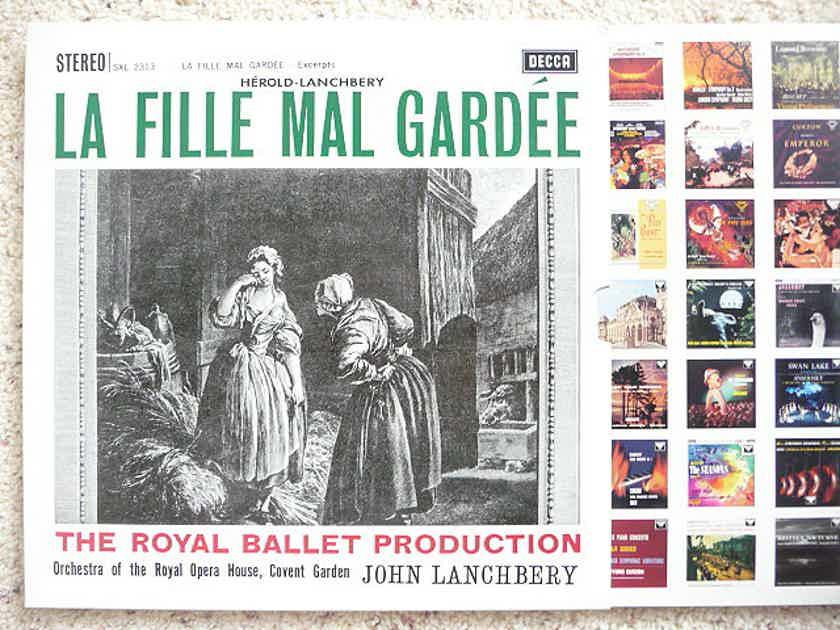 JOHN LANCHBERY  - LA FILLE MAL GARDEE DECCA LPs AS NEW