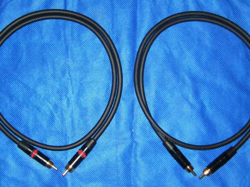 10 Audio Mogami RCA 1 meter pair - Studio Standard Interconnects
