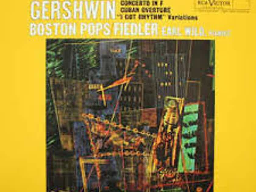 Fedlier and Wild Gershwin Concerto, Classic Records 45 RPM 4 LP