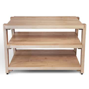 "Butcher Block Acoustics rigidrack™  24"" X 18"" - 3 Shelf - Maple Shelves - Maple Legs"