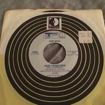The Who Join Together/Baby Don't You Do It Track Records