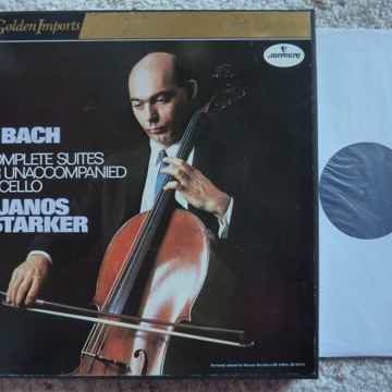 BACH UNACCOMPANIED CELLO SUITES JANOS STARKER 3LP NM