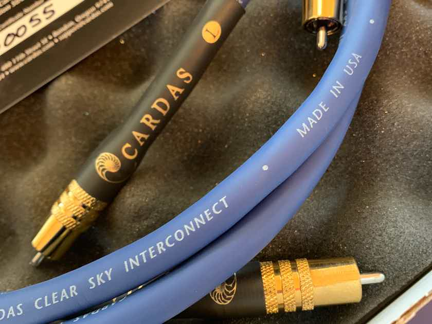Cardas Audio Clear Sky 1.5 Meter RCA Interconnects - Pair
