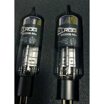 ELROG ER300B-Mo Triode Power Tubes: Matched Pair; NEW-i...