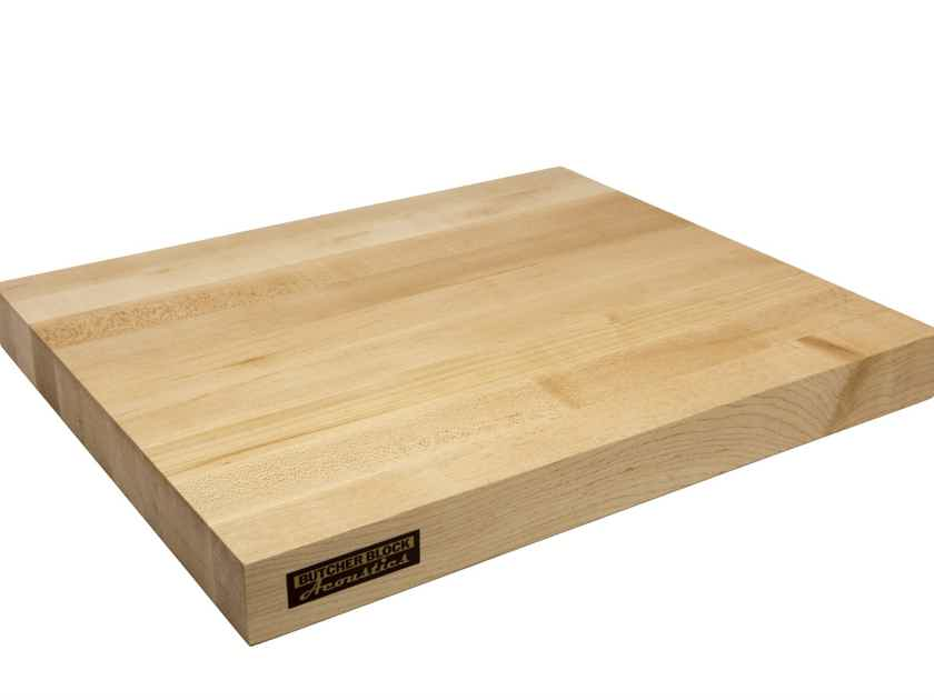 "Butcher Block Acoustics 18"" X 15"" X 1-3/4"" Maple Edge-Grain Audio Platform With Iso-Feet"