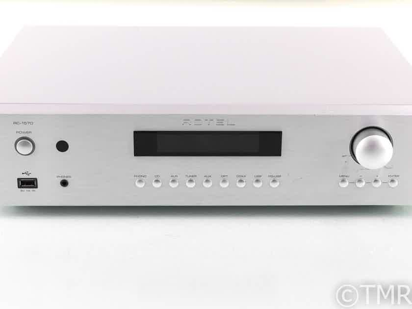 Rotel RC-1570 Stereo Preamplifier; MM Phono; RC1570; Silver; Remote (28751)