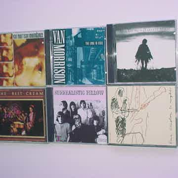 CLASSIC ROCK CD lot of 6 cd's Clapton Cream Neil Young Van Morrison Jefferson Airplane