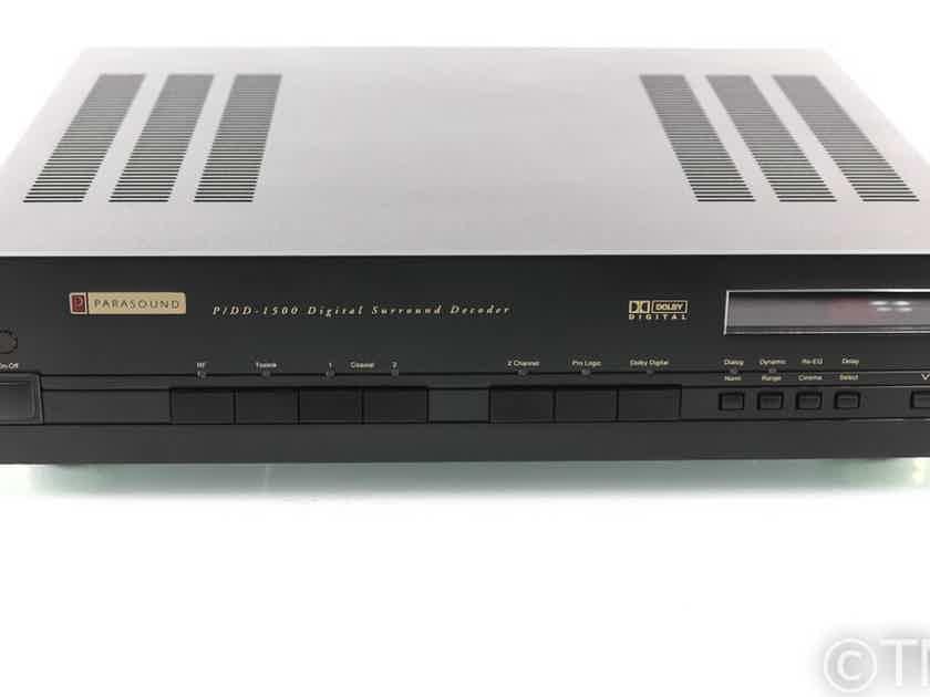 Parasound P/DD-1500 5.1 Channel Digital Surround Decoder; DAC; Remote (28175)