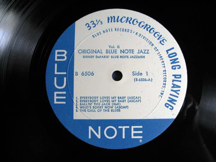 Sidney DeParis' Blue Note Jazzmen / J. P. Johnson - Original Blue Note Jazz Volume II  - 1969 Blue Note B-6506