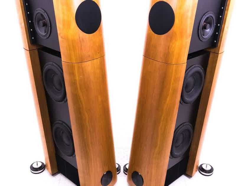 Audio Physic Kronos Floorstanding Speakers; Cherry Pair; Powered; 230V (20231)