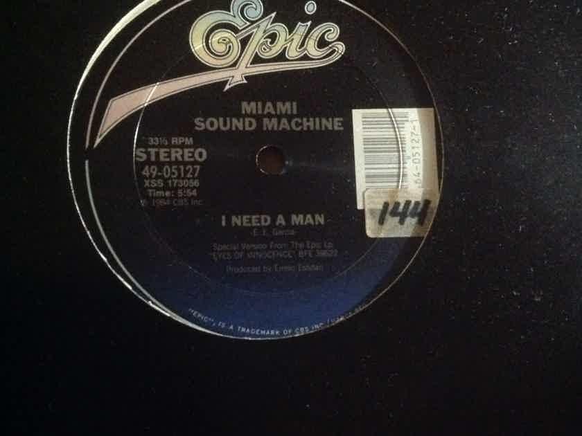 Miami Sound Machine - I Need A Man Epic Records 12 Inch Single Vinyl NM