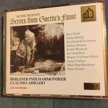Schumann Claudio Abbado SBM  Scenes from Goethes Faust Cd set Sony classics 1995