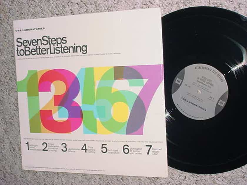 CBS Laboratories Seven Steps to better listening - lp test record in shrink with booklet Achieve best possible sound for any phonograph