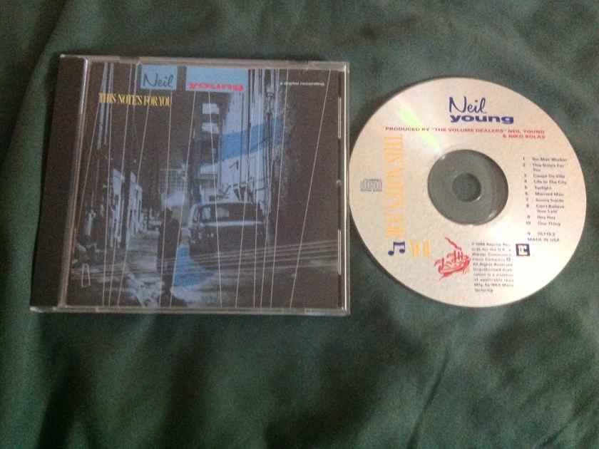 Neil Young - This Note's For You Reprise Records Compact Disc