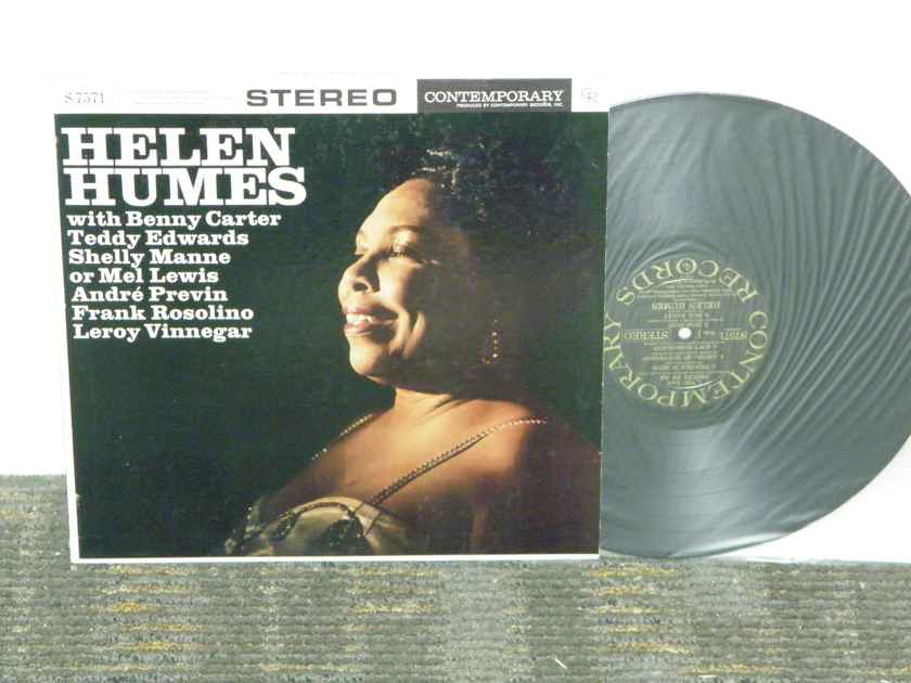 Helen Humes w/Benny Carter - +Teddy Edwards+Shelly Manne+more Contemporary Stereo S7571 Black/Gold Orig pressing