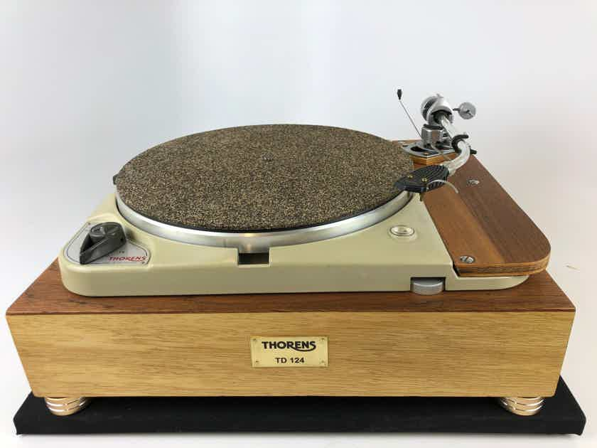 Thorens TD-124 with Thorens Plinth and Restored SME3009, Fully Customized