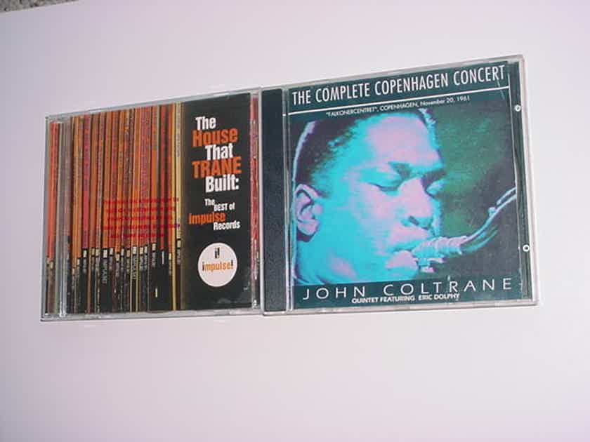 2 cd's jazz cd The house that Trane built - best of Impulse records promo case and John Coltrane Copenhagen concert