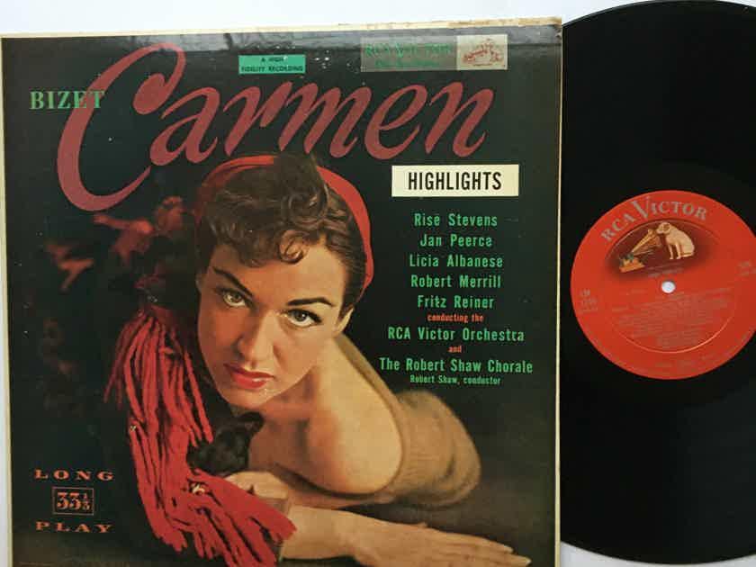 Bizet  Carmen highlights Lp record RCA shaded dog Lm1749