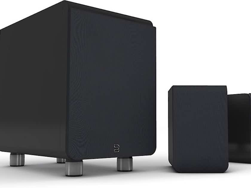 Bluesound  Duo 2.1 Channel Speaker System; Sub; Satellite Speakers; Black (New) (10205)