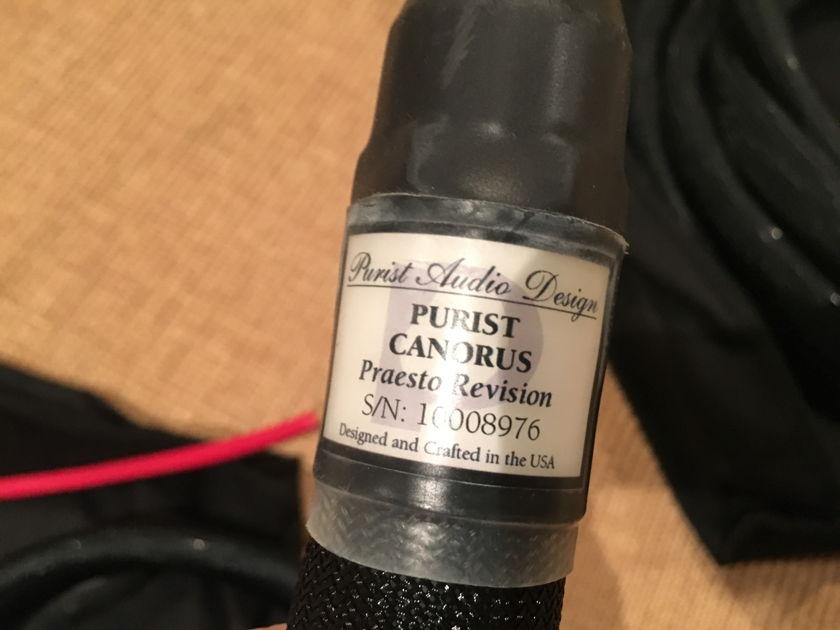 Purist Audio Design Canorus, Praesto Revision 2mt, WBT Spades.