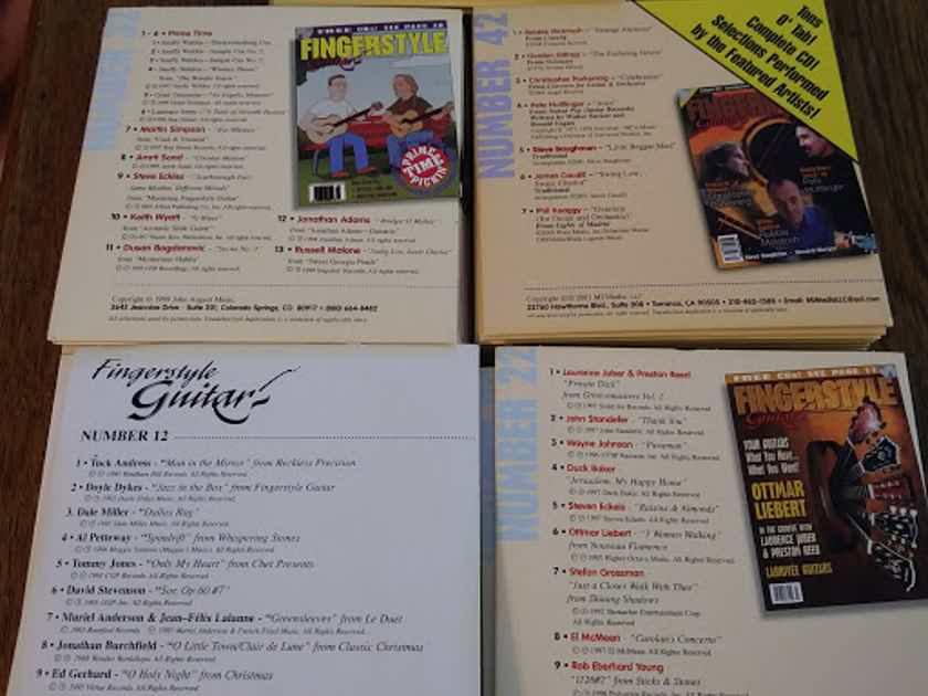 50 different Fingerstyle Guitar Magazine CDs - Nos. 12-61 inclusive 1995-2006 excellent condition
