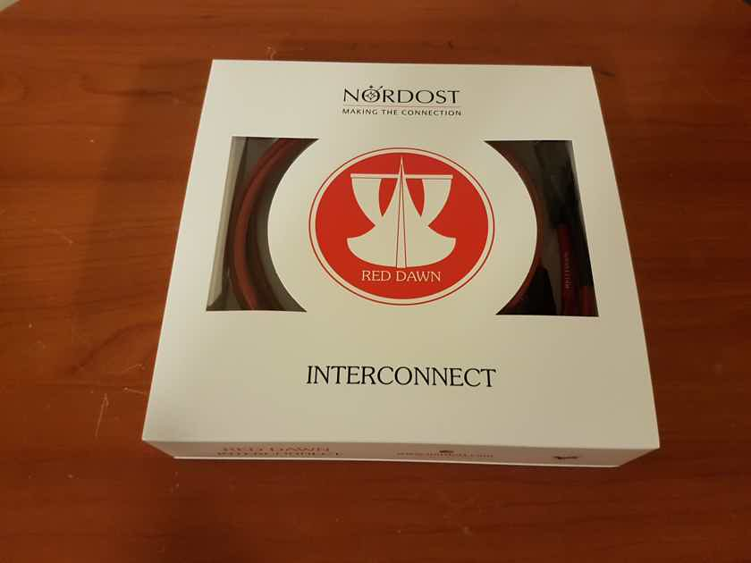 Nordost Red Dawn Leif Series RCA Interconnect Cable. 1 Meter.