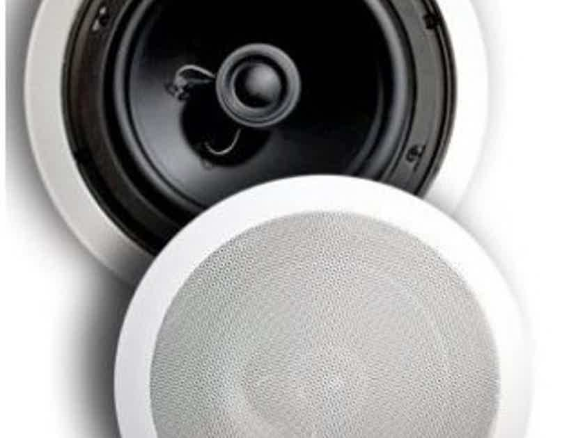 Totem Mask 8 In Ceiling Speakers; White Pair (New) (26253)